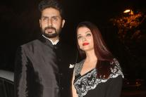 Aishwarya Rai, Abhishek Bachchan at Mickey Contractor's MAC Party
