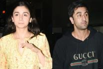 Alia Bhatt and Ranbir Kapoor at 'Padmaavat' Special Screening