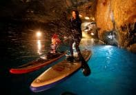 Racing on Europe's Biggest Underground Lake; See Pictures