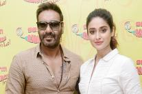 Ajay Devgn, Ileana D-Cruz Promote 'Raid' at Radio Mirchi