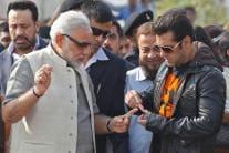 Bollywood's 'Sultan' Salman Khan with Political Bigwigs