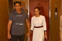 Lovebirds Prince Narula, Yuvika Chaudhary Enjoy a Movie Date
