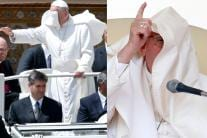 10 Times When Pope Francis Struggled to Battle The Wind