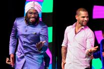Chris Gayle, Shikhar Dhawan Groove at CEAT Cricket Awards