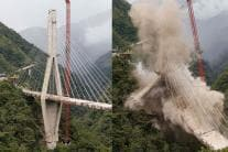 Colombian Suspension Bridge Demolished; Devastating Pictures
