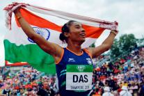 IAAF World U20 Tampere - Hima Das Wins India's First Gold Medal