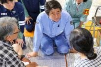 Japan PM Shinzo Abe's Visit To Flood Hit Areas Wins Hearts on Twitter