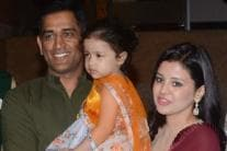 MS Dhoni With Sakshi & Ziva at Poorna Patel's Sangeet Ceremony