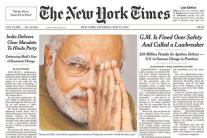 World newspaper front pages when Narendra Modi won in 2014