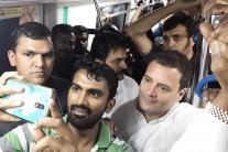 Rahul Gandhi Takes Namma Metro, Commuters Take Selfies