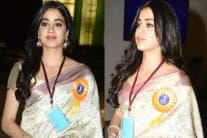Janhvi Kapoor Wore Late Sridevi's Saree to Pay Her Tribute