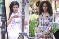 Kangana Ranaut, Amyra Dastur Shoot For 'Mental Hai Kya'