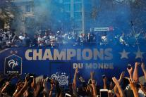 French Football Team Gets Hero's Welcome in Paris; See Photos
