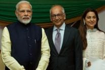 Juhi Chawla and Her Family Meet PM Narendra Modi in Uganda