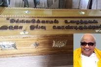 'Man Who Never Rested is Now Resting' - Message on Karunanidhi's Coffin
