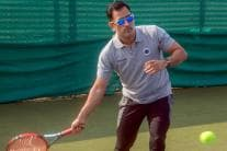 Candid Pics of MSD: Dhoni Spotted Playing Tennis