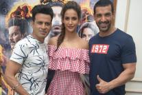 John Abraham, Manoj Bajpayee Promote 'Satyameva Jayate' in the Capital