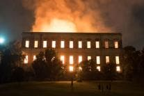 Massive Fire Engulfed Brazil's 200-Year-Old National Museum