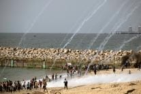 Gaza Beach Protest: Israeli Fire Wounds 32 Palestinians