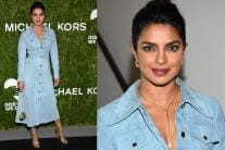 Priyanka Chopra Wows in a Suede Frock at Golden Heart Awards '18