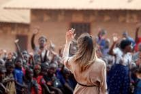 Pictures From US First Lady Melania Trump's Africa Tour