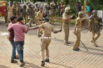 Sabarimala Protest: Police Lathi Charge as Protests Turn Violent