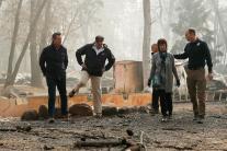 California Wildfires: Trump Visits Charred Ruins of Paradise