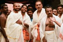 Cricketers at Padmanabhaswamy Temple Ahead of Their 5th ODI
