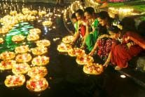 Kartik Purnima: Women Light Lamps to Mark Dev Deepawali