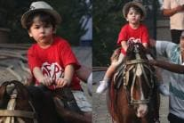 PICS: Taimur Ali Khan Looks Adorable Riding a Horse