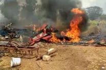 Bengaluru Aero Show Rehearsal Plane Crash: Latest Photos From the Site