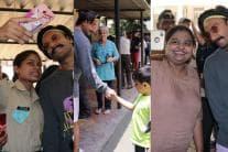 Ranveer Singh Chats, Clicks Selfies While Standing in Queue to Vote