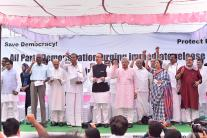All Party Protest at Jantar Mantar, Demand Release of Leaders Detained in J&K