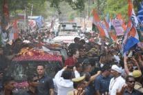 Pictures From Sonia Gandhi's Roadshow in Rae Bareli
