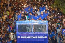 Mumbai Indians Celebrate IPL 2019 Victory With Open-Bus Parade