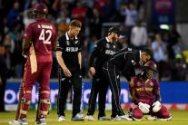 In Pics, New Zealand Win Thriller at Manchester Against West Indies