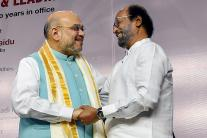 Rajinikanth Bonds With Amit Shah, Hails Removal of Article 370 at a Book Launch
