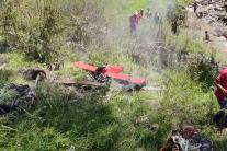 PICS: Helicopter Carrying Flood Relief Material Crashes in Uttarkashi