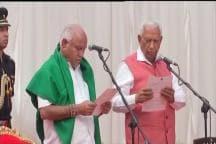 Yeddyurappa Sworn in as Karnataka CM; Congress, JD(S) Protest Outside Vidhan Soudha