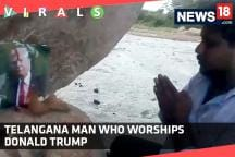 Watch: Telangana man worshiping Trump