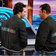 Varun Dhawan gifts a Made in India jacket to Salman Khan
