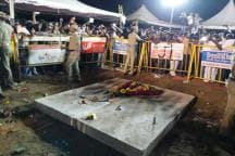 M Karunanidhi Laid to Rest Beside Annadurai at Marina in Chennai