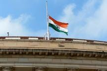 Indian National Flag Flies Half-Mast Honouring M Karunanidhi