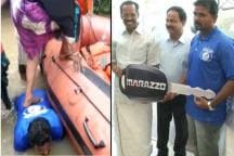 Remember Kerala Fisherman Who Offered His Back to Help Women Into Boat? Mahindra Gifted Him a Car