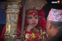 Nepal's Living Goddess Trishna Shakya Makes a Public Appearance For The First Time