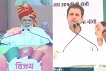 PM Modi Launches Blistering Attack on Gandhis at Ajmer Rally, Rahul Replies in MP