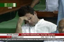 Rahul Wasn't Sleeping in Parliament But Looking Down: Congress