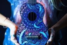 This Artist Paints Bohemian Art On Musical Instruments And It's Beautiful