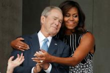Michelle Obama Hugged George W. Bush And The Internet Lost It