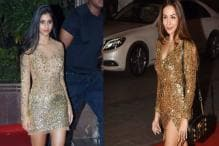 Suhana Khan Or Malaika Arora Khan: Who Sported The Glittering Gold Outfit Better?